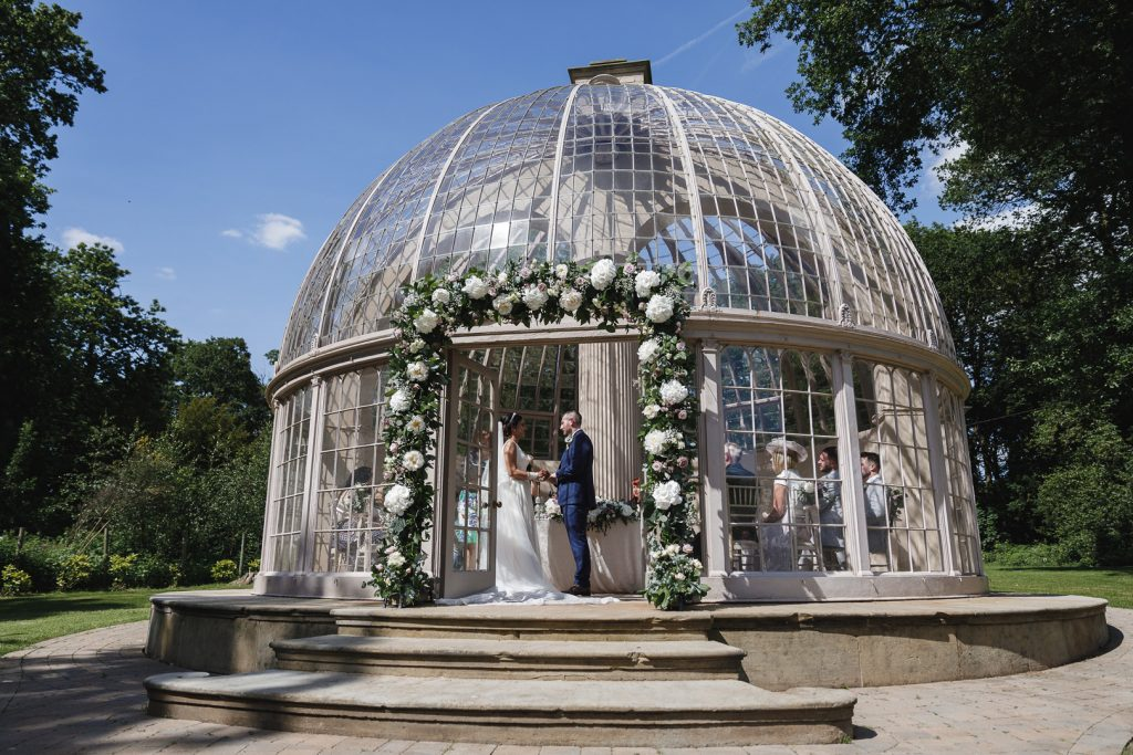 Hilton Hall glass dome conservatory wedding