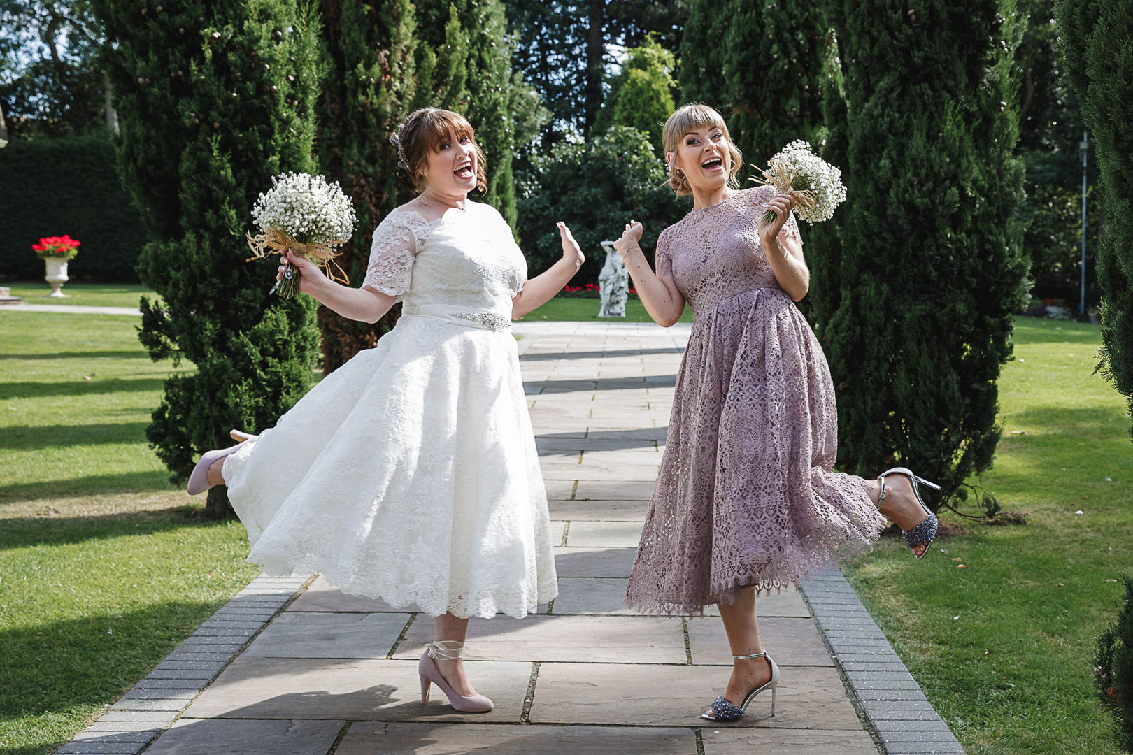 west retford hotel wedding bride and bridesmaid