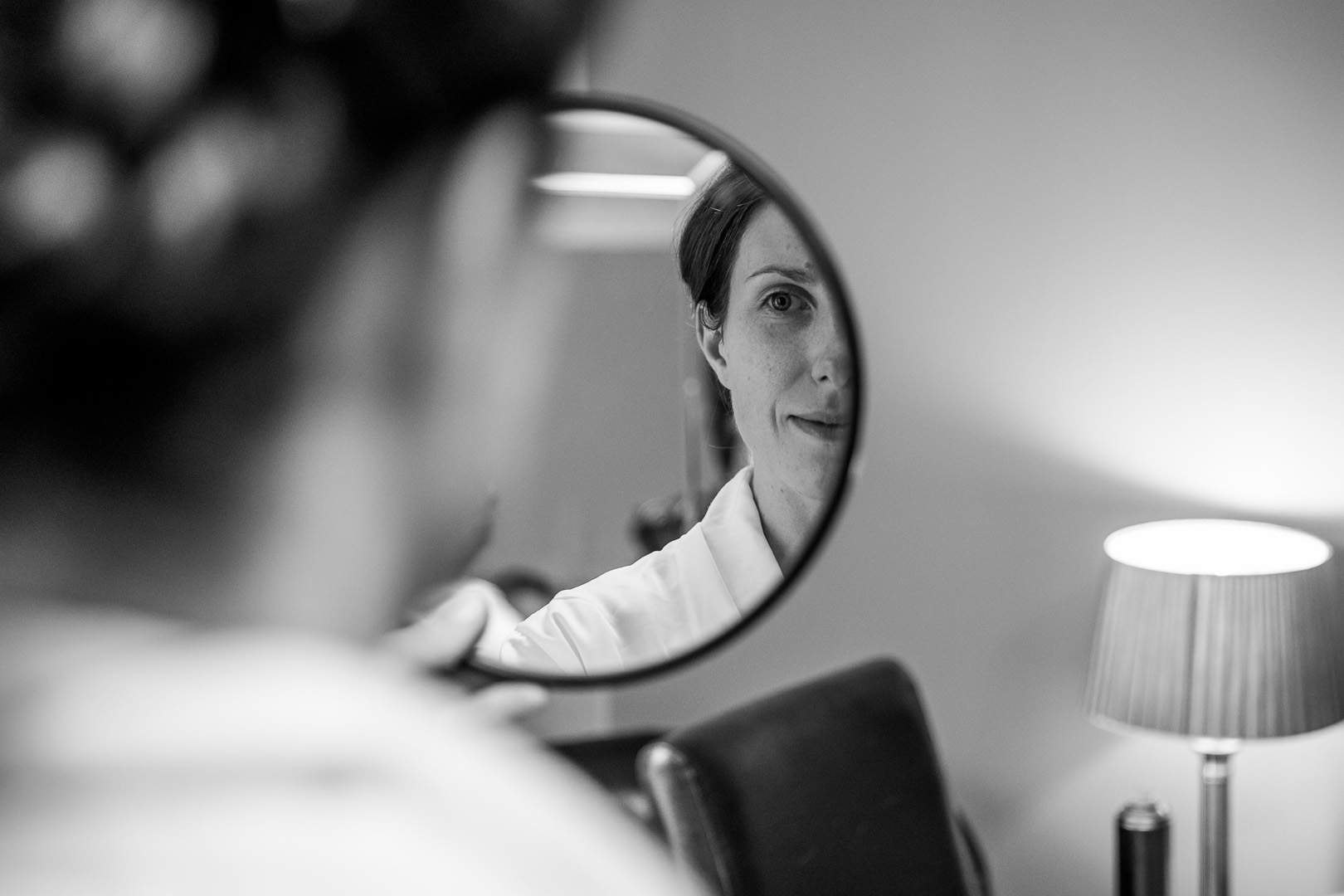 Bride getting ready at this west retford hotel wedding